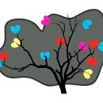 Valentine Heart Tree — Stock Vector #60651407