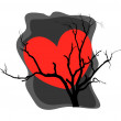 Heart Dead Tree Background — Stock Vector #60651437