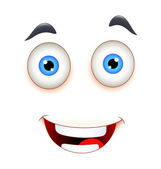 Laughing Face Expression — Stock vektor