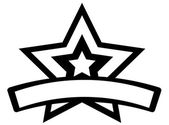 Retro Star Banner — Wektor stockowy