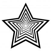 Abstract Star Design — Stock Vector