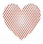 Circles Pattern Heart — Vector de stock