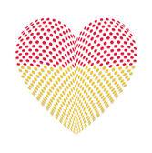 Abstract Polka Dots Heart — Stock Vector