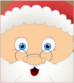 Laughing Cute Santa Face Expression — Stock Vector