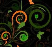 Retro Swirl Flourish — Stock Vector