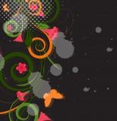 Abstract Grunge Flourish Designs — Stock Vector