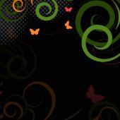Retro Swirl Abstract Background — Stock Vector