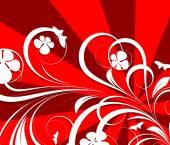花の装飾的な背景 — ストックベクタ
