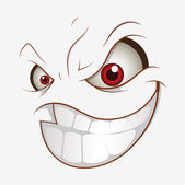 Naughty Cartoon Face Smile Expression — Stock Vector