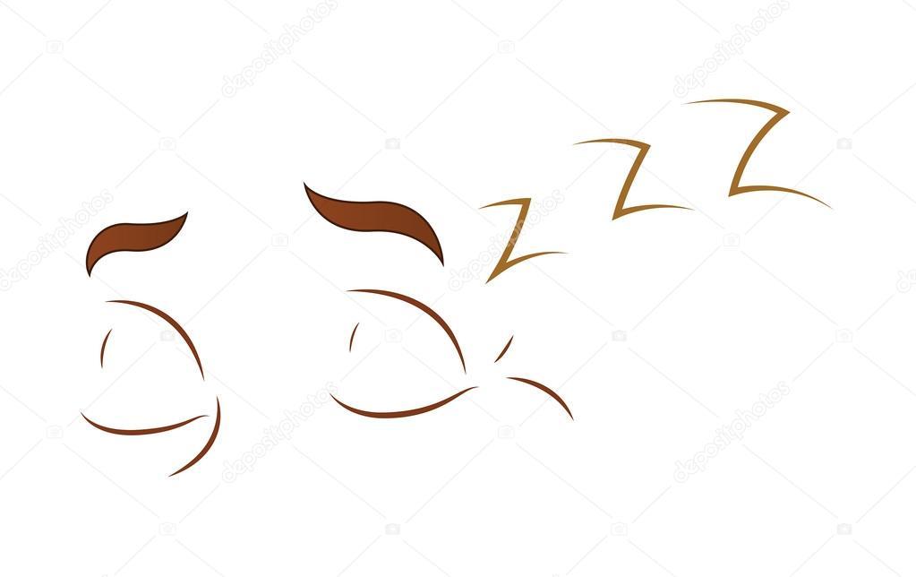 Ojos De Caricatura Durmiendo