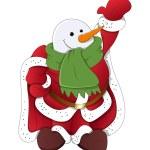 Dancing Funny Snowman Santa Claus Character — Stock Vector #61231867