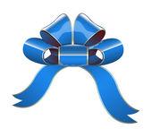 Blue Ribbon Bow — Stock Vector