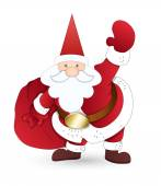 Happy Santa with Gift Bag — Wektor stockowy