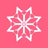 Xmas Snowflake Design — ストックベクタ