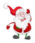 Divertido viejo Santa Claus — Vector de stock