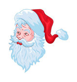 Old Santa Face — Stock Vector