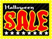 Retro Halloween Sale Banner — Stock Vector