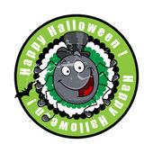 Funny Happy Halloween Spider Character — Stok Vektör