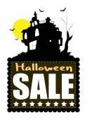 Haunted House Halloween Sale Banner — Stock Vector