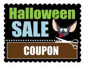 Halloween Sale Banner Discount Coupon — Stock Vector