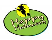 Halloween Witch Shape Banner — Vector de stock