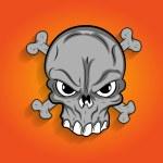 Halloween Scary Skull Vector — Stock Vector #61453043