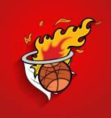 Basket Fireball Vector Graphic — Vector de stock
