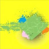 Grunge Splash Banner Background — Stockvektor