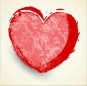 Bannière de coeur grunge — Vecteur