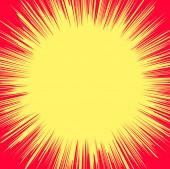 Soyut Retro Sunburst afiş — Stok Vektör