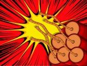 Retro Explosive Bombs — Stock vektor