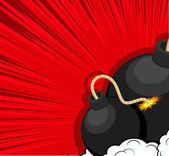 Explosion Bombs Vector — Stock vektor