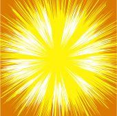 Bright Sunburst Background — Stock Vector