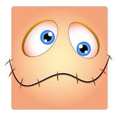 Silent Funny Face Box Smiley — Stock Vector