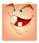 Laughing Funny Face Box Smiley — Stock Vector