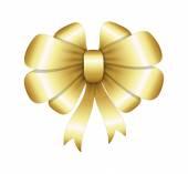 Gouden lint Bow bloeien — Stockvector