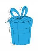 Christmas Gift Box Clipart — Vettoriale Stock