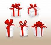 Set of Gift Box Vectors — Stock Vector