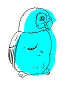 Cute Bird Drawing — Stock Vector
