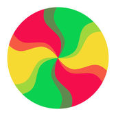 Colorful Spectrum Circle — Stock Vector