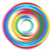 Spectrum Circle Design — Stock Vector