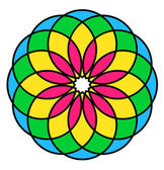 Spectrum Floral Design — Stock Vector