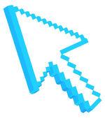 3d Pixel Arrow — Stock Vector