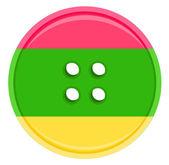 Bouton couleur vector — Vecteur