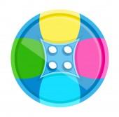 Colorful Button Vector — Vecteur