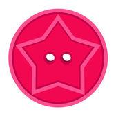 Star Shape Shirt Button — Stock Vector