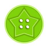 Star Cloth Button — Stock Vector