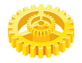 3d Gear Wheel — Stock Vector