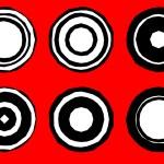 Retro Circles Vector Designs — Stock Vector #62677061
