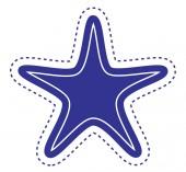 Star Label Sticker — Stockvector